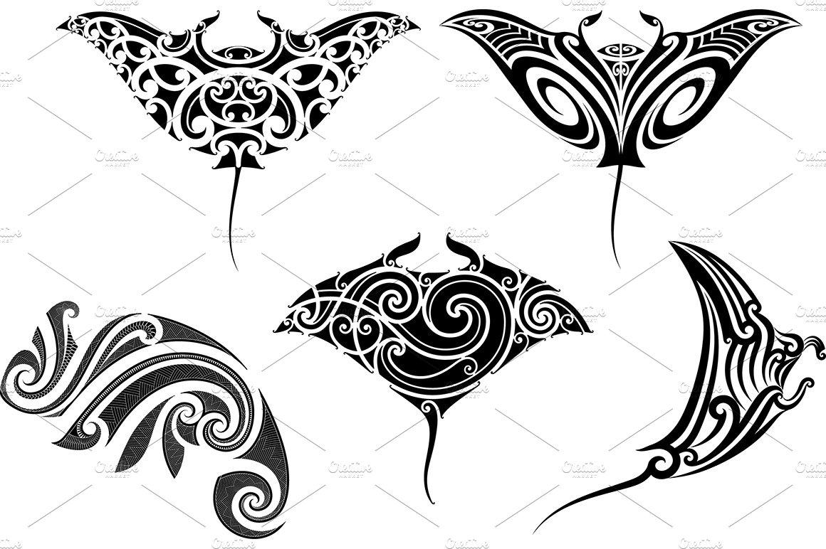 Maori Tattoo Patterns (5x)