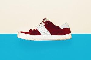 Trendy sneakers. minimal