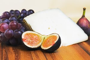 Figs, grapes & Iberico cheese