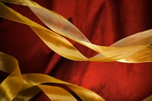 Holiday Ribbon & Taffeta Background