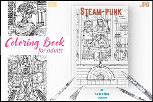 Steam-punk coloring book