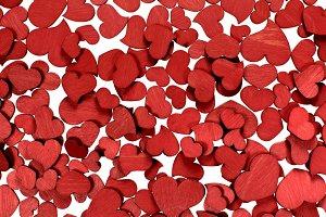 Valentine Wooden Hearts Background