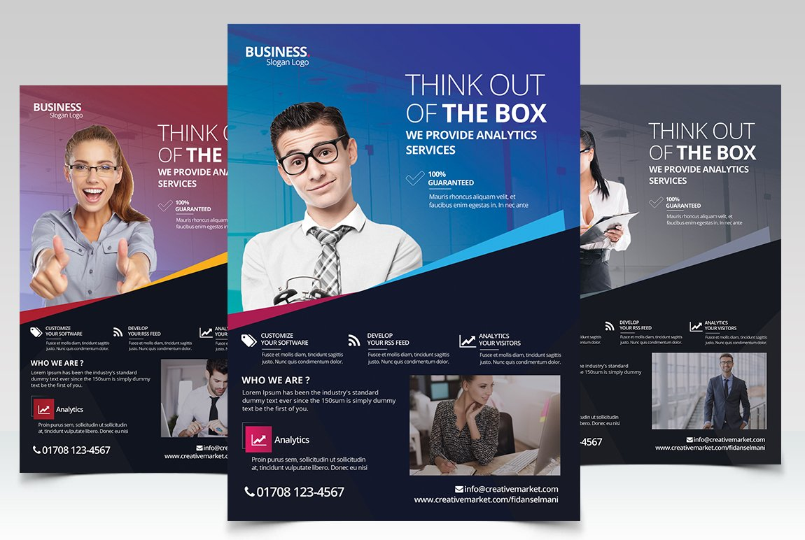 Business corporate psd flyer flyer templates creative market for Business flyer psd