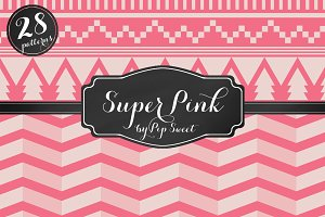 Super Pink 28 Pattern Set