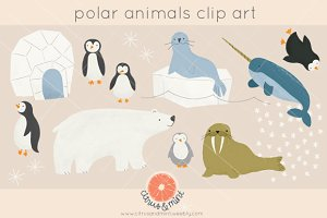 Polar Animals Clip Art