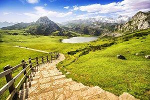 Lake Ercina, Covadonga, Spain.