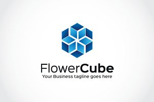 Flower Cube Logo Template