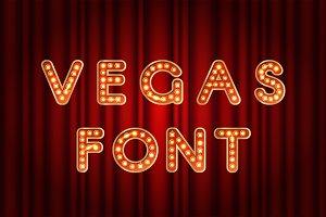 Vegas bulb alphabet letters