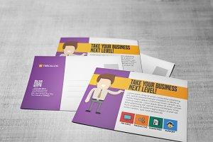 Flat Corporate Postcard