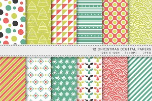 Christmas Patterns Digital Paper