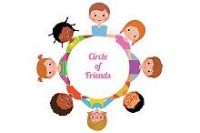 Happy cheerful children