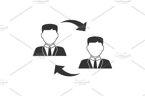 Men Exchanging Icon