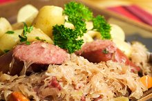 Kielbasa, Sauerkraut and Potatoes
