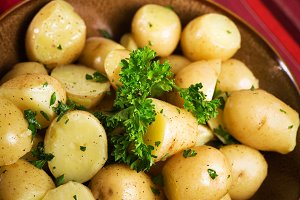 Boiled Potatoes & Parsley