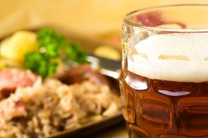 Lager with Bavarian Food