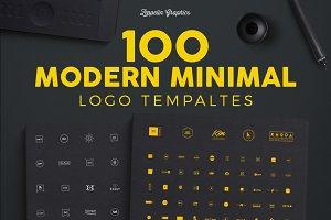 100 Modern Minimal Logo Templates