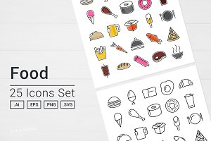 Tasty Food Icons Set