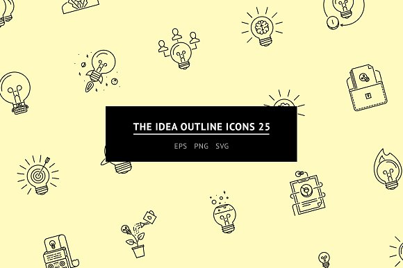 The Idea Outline Icons 25