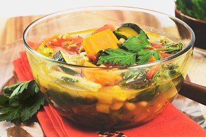 Homemade Hearty Vegetable Soup
