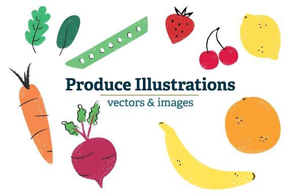 Original Produce Illustrations
