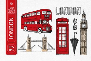 Hand drawn London illustration
