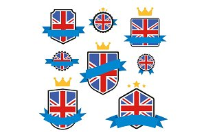 World Flags Series. Vector Flag of United Kingdom.