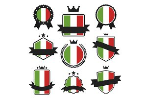 World Flags Series. Vector Flag of Italy.