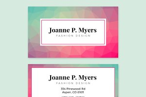 Business Card Template - POLYGON 01