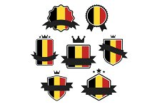 World Flags Series. Vector Flag of Belgium.