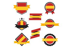 World Flags Series. Vector Flag of Spain.