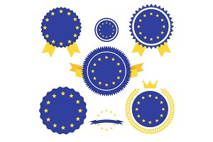 World Flags Series. Vector Flag of European Union.