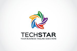 Tech Star Logo Template