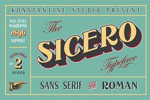 Sicero Vintage Logo Branding Fonts