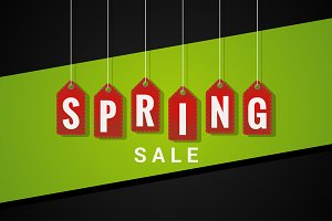 Spring Sale Tag Background.