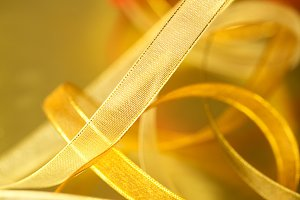 Gold Christmas Ribbon