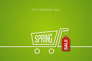 Spring Sale Tag Design Background.