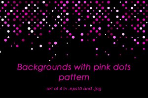 Backgrounds with pink dots pattern