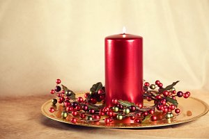 Holiday Candle Decor