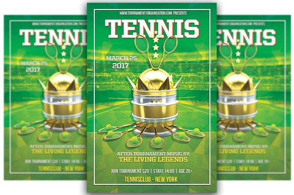 Tennis tournament flyer templates creative market tennis tournament flyers fandeluxe Gallery