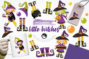 Little witches illustration pack