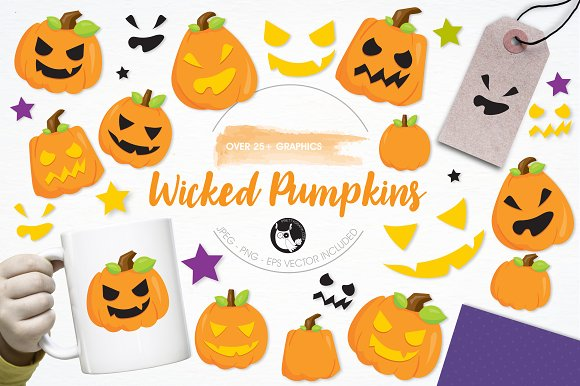Wicked Pumpkins Illustration Pack