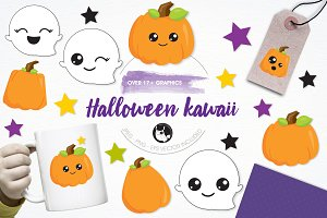 Halloween kawaii illustration pack