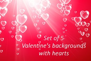 Valentine's backgrounds with hearts