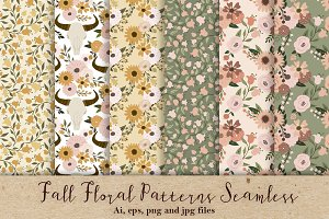 Fall Floral Patterns Seamless