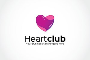 Heart club Logo Template