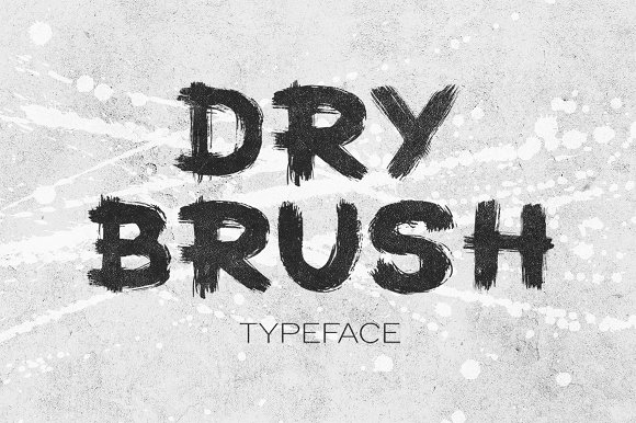 Dry Brush Typeface