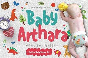 Baby Arthara Typeface + Bonus