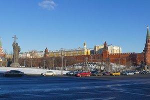 Monument to Prince Vladimir in the Kremlin