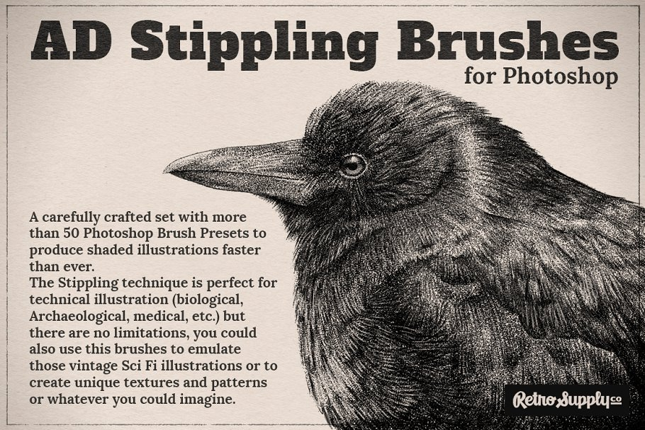 Ad Stippling Brushes For Photoshop Photoshop Add Ons Creative Market