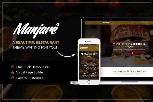 Restaurant WordPress Theme | Manjar…
